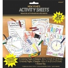Activity Sheets - New Years 30 sheets