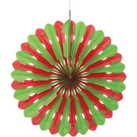 Red and Green Decorative Fan