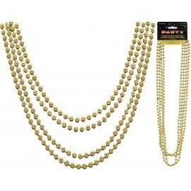 Bead Necklaces-Metallic Gold-32''-4pk
