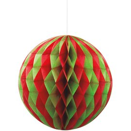 """Red and Green Honeycomb Ball 8"""""""