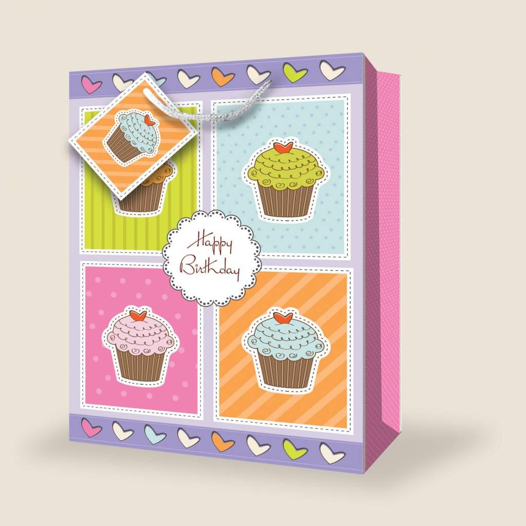 Gift Bag Happy Birthday Cupcake Jumbo