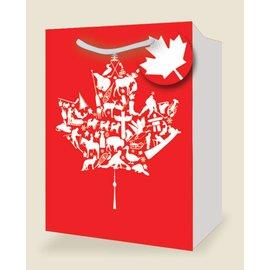 Gift Bag-Canadian Maple Leaf Large