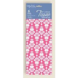Tissue Paper-Pink Damask