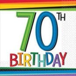 Napkins - Bev - 70th Birthday