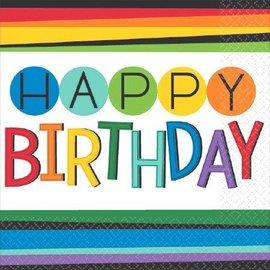 Napkins - Bev - Rainbow Birthday - Discontinued