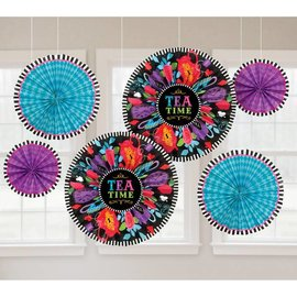 Decorative Fans - Mad Tea Party-8~16''-6pk