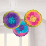 Fluffy Flower Decorations - Mad Tea Party-16''-3pk