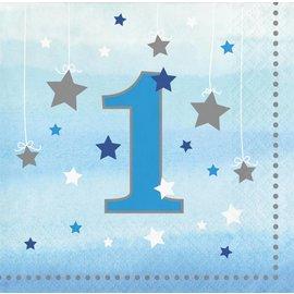 Beverage Napkins-One Little Star Boy-First Birthday-Final Sale