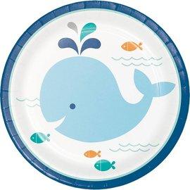 Plates-BEV-Lil'Spout Blue-8pk-Paper