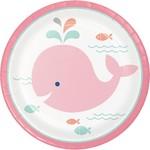 "Plates Beverage - Lil' Spout Pink- 16pk-7"""