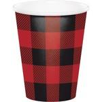 Cups - Buffalo Plaid-8pk-Paper