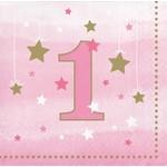 Bev Napkins-One Little Star Pink