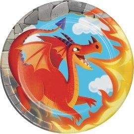 Plates-Bev - Dragon Party-8pk-Paper