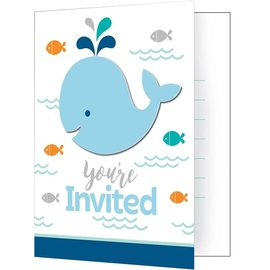 Invitations - Lil Spout Blue-8pk