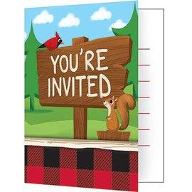 Invitations-Lum Bear Jack-8pk
