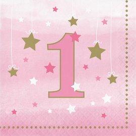 Napkins LN - One Little Star Pink