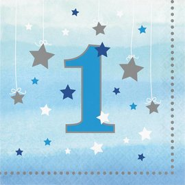 Luncheon Napkins-One Little Star Boy-1st Birthday-16pk-2ply
