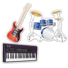 Cutouts-Musical Instruments-3pkg-18''