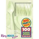 Spoons-Premium-Leaf Green-Box/100pkg-Plastic