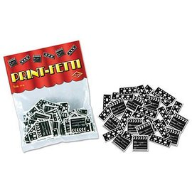Confetti-Movie Set Clapboard and Filmstrip-14g