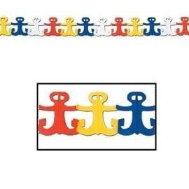 Garland-Tissue-Nautical Anchors-1pkg-12ft