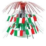 "Centerpiece-Mini Cascade-Italy Flag-1pkg-7.5"""