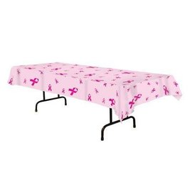 Tablecover-Rectangle-Pink Ribbons-54''x108''-Plastic