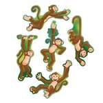 "Cutouts-Mini Monkeys-10pkg-6.5""-7"""