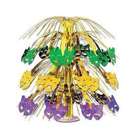 Centerpiece-Metallic Cascade-Mardi Gras-1pkg-18''