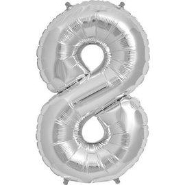 """Foil Balloon - Silver - #8 - 34"""""""