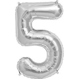 """Foil Balloon - Silver - #5 - 34"""""""