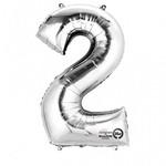 "Foil Balloon - Silver - #2 - 22""x33"""