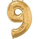 "Foil Balloon - Gold #9 - 34"""