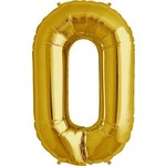 "Foil Balloon - Gold #0 - 34"""