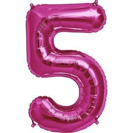 "Foil Balloon - Pink - #5 - 34"""