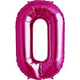 "Foil Balloon - Pink -  #0 - 34"""