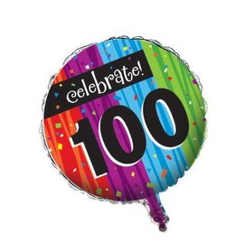 Foil Balloon - Milestone Celebrations 100th - 18""