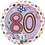 """Foil Balloon - 80 Dots and Stripes - 18"""""""
