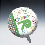 """Foil Balloon - Celebrate in Style 70th - 18"""""""