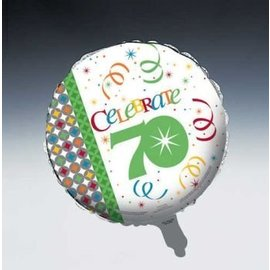 Foil Balloon - Celebrate in Style 70th - 18""