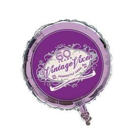 "Foil Balloon - Vintage Vixen Age 60 - 18"""