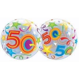 "Plastic Bubble Balloon-50th Birthday Celebration-1pkg-22"""