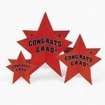 Centerpiece Set-Orange Congrats Graduation Star-3pk (Seasonal)