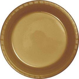 Plates-BEV-Glittering Gold-20pkg-Plastic