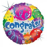 Foil Balloon - Congrats! - 18''