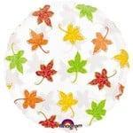 "Foil Balloon-Clear Autumn Leaves 18"""