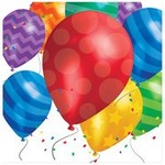 Beverage Napkins-Balloon Blast-Discontinued - 16pk - 2ply