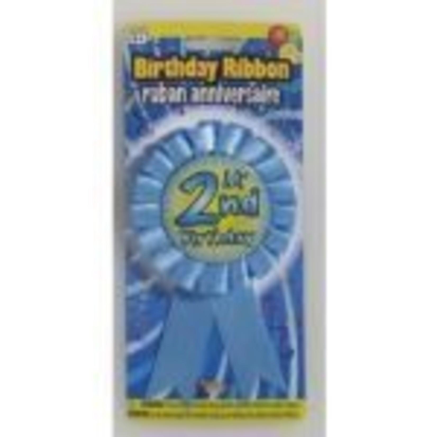 Award Ribbon My 2nd Birthday 1PKG