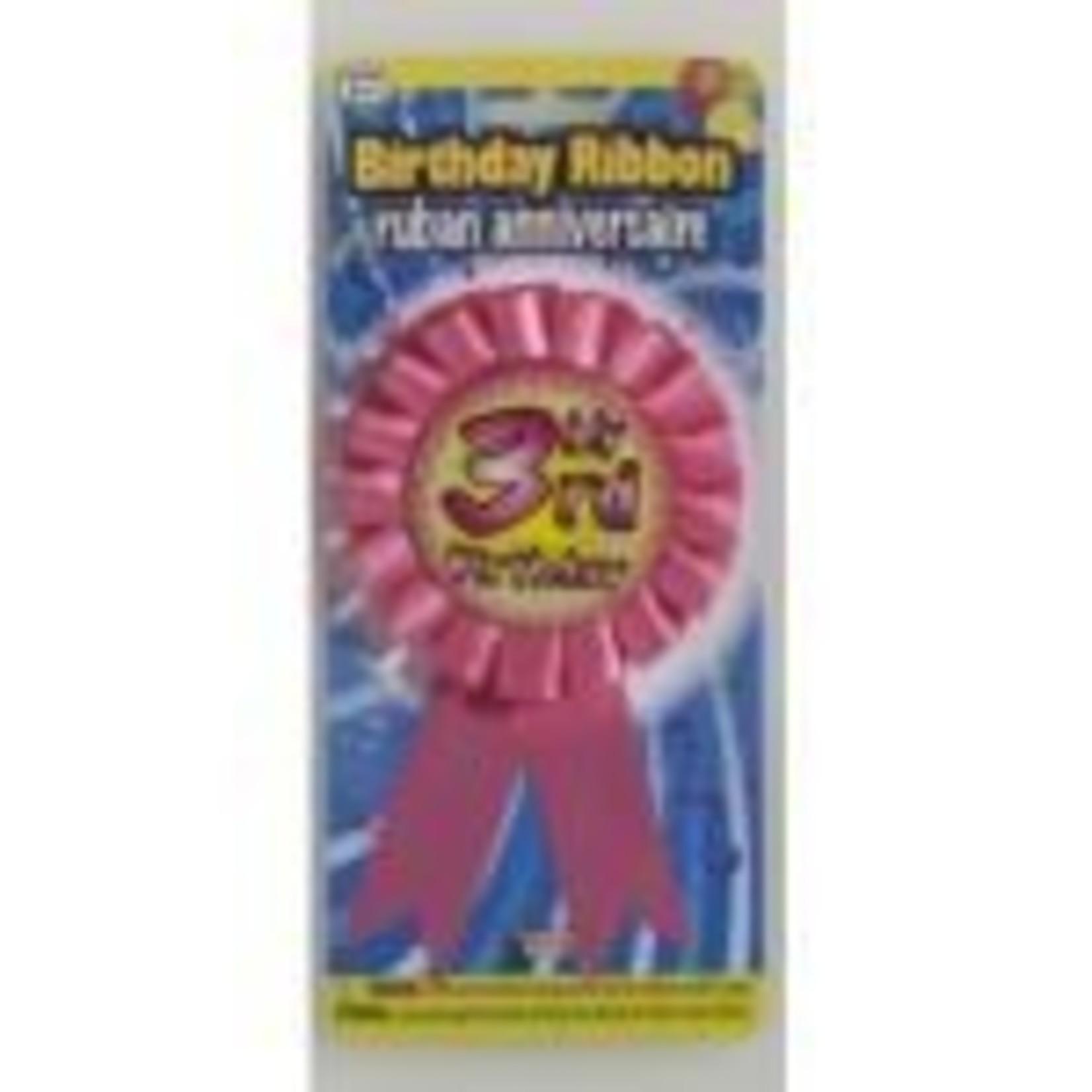 Award Ribbon My 3rd Birthday 1 PKG