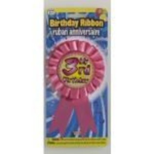 Award Ribbon My 3rd Birthday 1 PKG